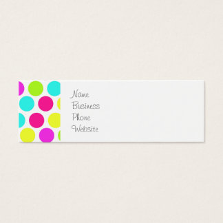 Girly Colorful Polka Dots Pattern for Girls Mini Business Card
