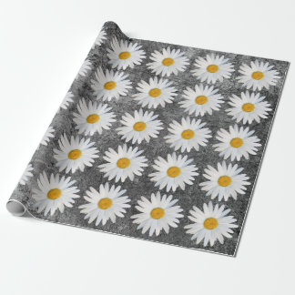 Girly contemporary Floral Celebration Wrapping Paper