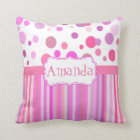 Girly custom cushion, girl's room throw pillow