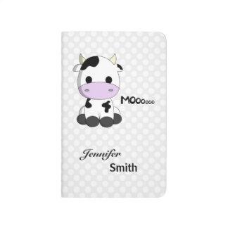 Girly cute cow kawaii cartoon name girls journal
