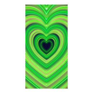 Girly Cute Neon Heart Design Personalized Photo Card