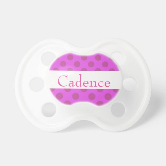 Girly Cute Pink Polka Dots Pacifiers