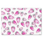 Girly cute pink watercolor strawberries pattern tissue paper