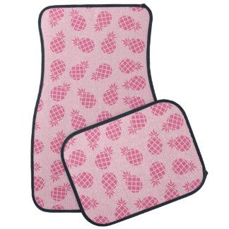 Girly cute summer pastel pink pineapple pattern car mat