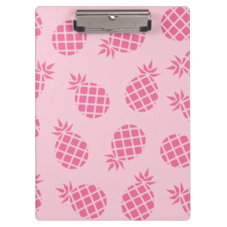 Girly cute summer pastel pink pineapple pattern clipboard