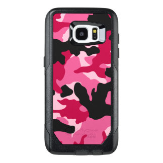 Girly Dark Pink Charcoal Camo Camouflage Pattern