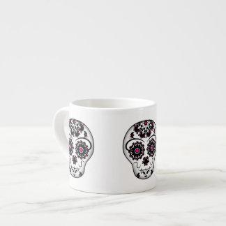 Girly day of the dead sugar skull espresso cup