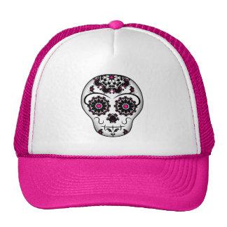 Girly day of the dead sugar skull trucker hat