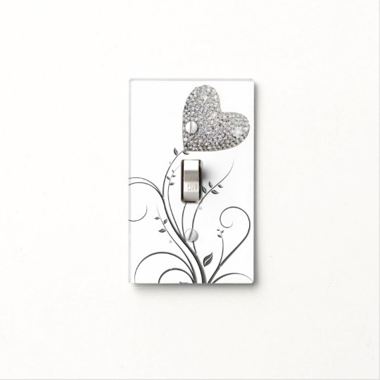 girly delicate love flower light switch cover