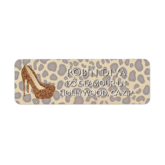 Girly Diva Leopard Print | Glam High Heel Shoes