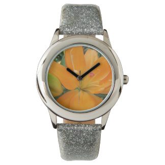 Girly Double Lily Custom Glitter Watch