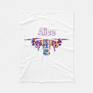 Girly drone colorful fleece blanket
