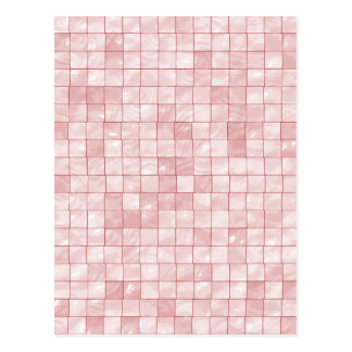 Girly Duo-tone Pink Geometric Decorative Tile Postcard