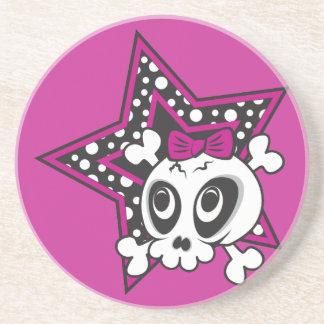 Girly Emo Skull Coaster