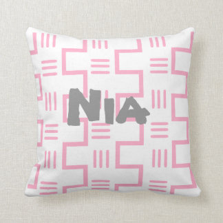 Girly Ethnic Throw Pillow