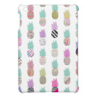 Girly Exotic Pineapple Aztec Floral Pattern iPad Mini Cover