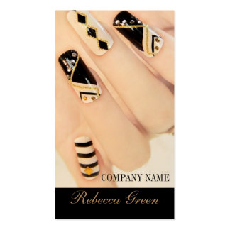 girly fashion beauty nail artist nail salon pack of standard business cards