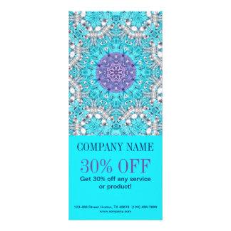 girly fashion SPA salon floral pattern turquoise Rack Card Design