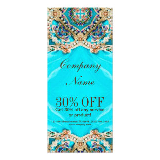 girly fashion turquoise Embellishments bohemian Full Color Rack Card