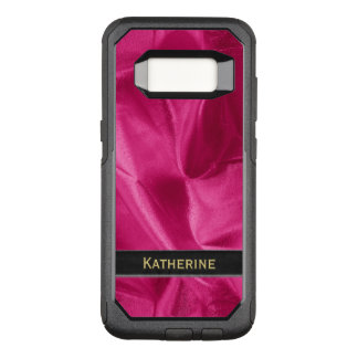 : Girly Faux Fuchsia Lame' Metallic OtterBox Commuter Samsung Galaxy S8 Case