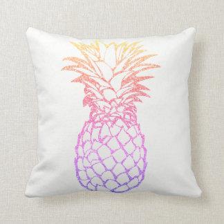 Girly Faux Glitter Pineapple Throw Pillow Cushion