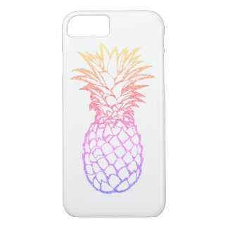 Girly Faux Glitter Pineapple White iPhone 7 Case