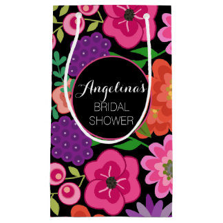 Girly Floral Birthday Party or Bridal Shower Small Gift Bag