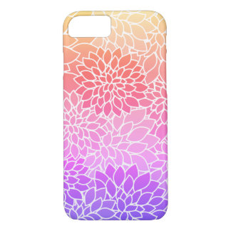 Girly Floral Design Custom iPhone 7 Case
