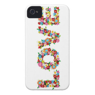 Girly Floral LOVE iPhone 4 Case-Mate Case
