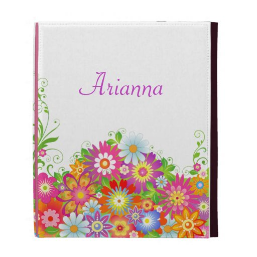 Girly Floral Personalized iPad Case