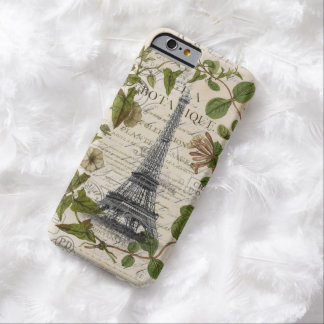 girly floral scripts vintage eiffel tower paris barely there iPhone 6 case