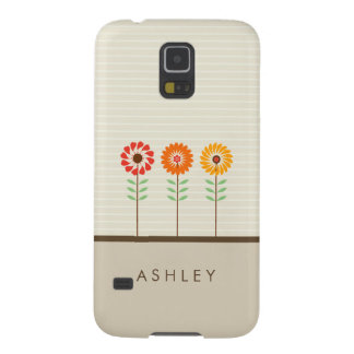 Girly Floral Sun Flowers Pattern - Nature Stylish Case For Galaxy S5
