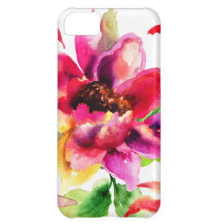 Girly Floral Vintage Tropical Lily iPhone 5C Case
