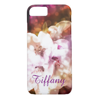 Girly Flowers Bokeh Custom iphone 7 Case