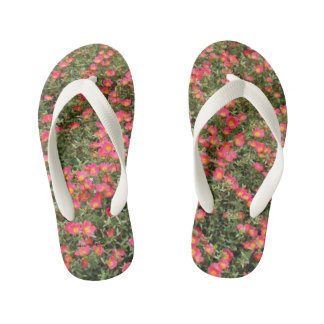 Girly Flowers Kid's Flip Flops