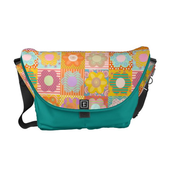 Girly flowers messenger bags