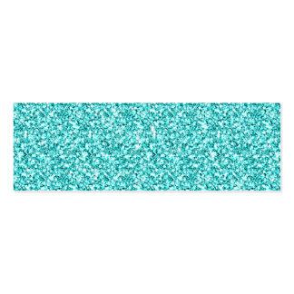 Girly, Fun Aqua Blue Glitter Printed Business Card Templates