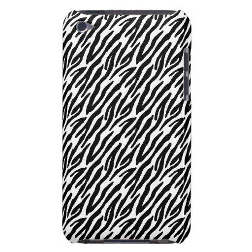 Girly Fun Black Zebra Stripes Pattern iPod Touch Covers