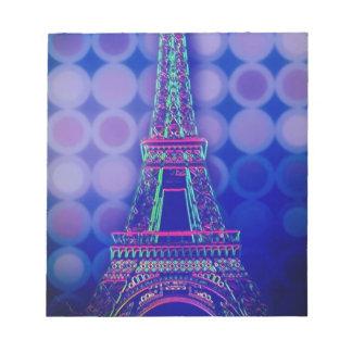 girly Geometric circles purple paris eiffel tower Notepad
