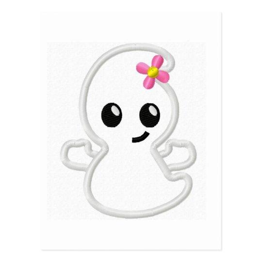girly ghost.jpg postcard