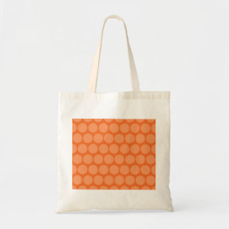 Girly Giant Big Orange Peach Polka Dots Pattern Budget Tote Bag