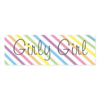 Girly Girl Bookmark Mini Business Card