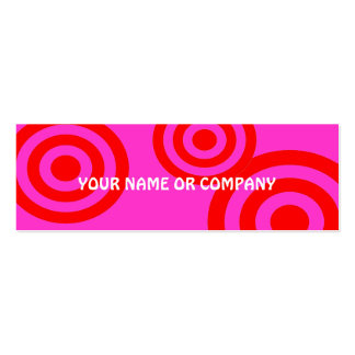 girly girl contact card business cards