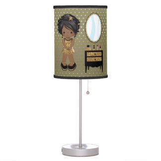 Girly girl gold - choose background color desk lamps