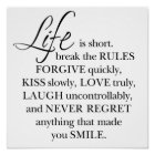 """Girly-Girl-Graphics Life Quote Poster 12"""" x 12"""""""