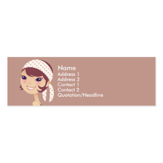Girly Girl Profile Cards Mini Business Card