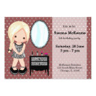 Girly girl silver - choose background colour card