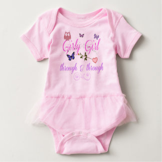 Girly Girl Tutu  Infant Body Suit T-shirt