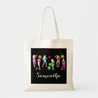 Girly girls fashion models tote bag