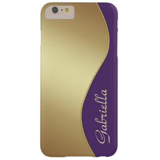 Girly Gold and Purple Monogram iPhone 6 Plus case